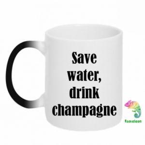 Kubek-kameleon Save water, drink champagne