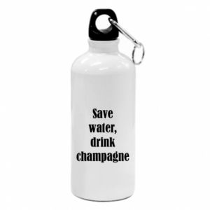 Water bottle Save water, drink champagne