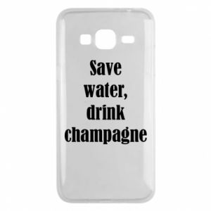 Phone case for Samsung J3 2016 Save water, drink champagne