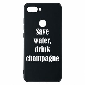Phone case for Xiaomi Mi8 Lite Save water, drink champagne