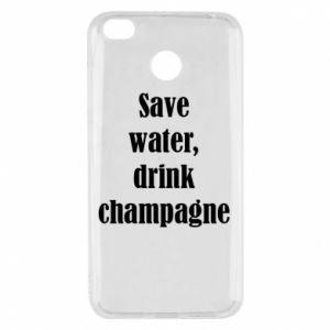 Xiaomi Redmi 4X Case Save water, drink champagne