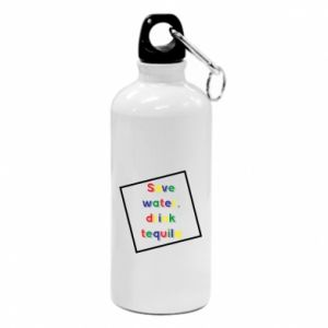 Water bottle Save water, drink tequila