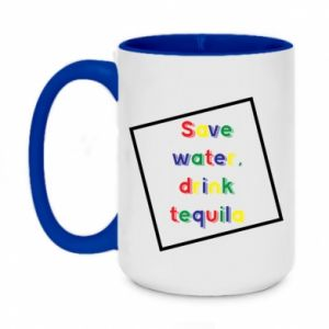 Two-toned mug 450ml Save water, drink tequila