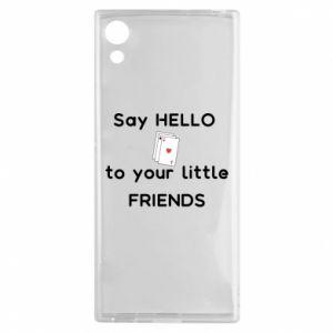Etui na Sony Xperia XA1 Say hello to your little friends