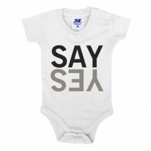 Baby bodysuit Say Yes