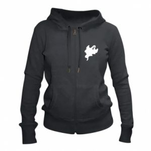 Women's zip up hoodies Scary ghost - PrintSalon