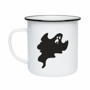 Enameled mug Scary ghost - PrintSalon