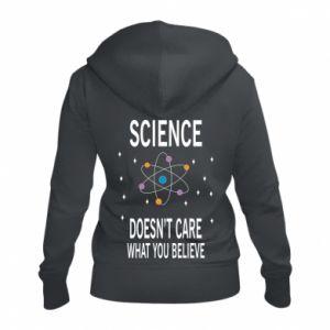 Damska bluza na zamek Science doesn't care what you believe - PrintSalon