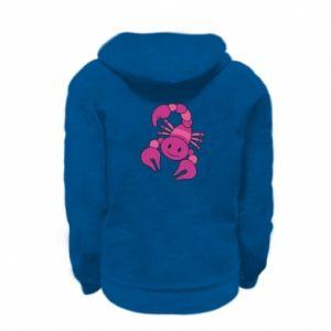 Kid's zipped hoodie % print% Scorpio