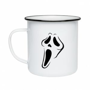 Enameled mug Scream - PrintSalon