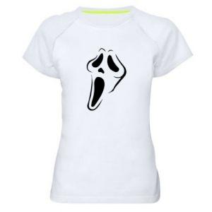 Women's sports t-shirt Scream - PrintSalon