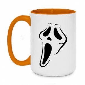 Two-toned mug 450ml Scream