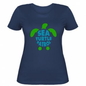 Damska koszulka Sea turtle patrol