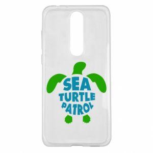 Etui na Nokia 5.1 Plus Sea turtle patrol