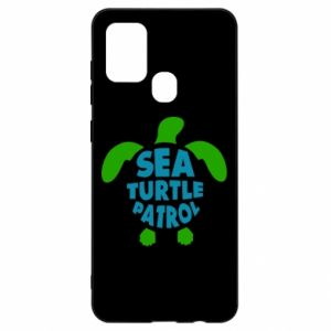 Etui na Samsung A21s Sea turtle patrol