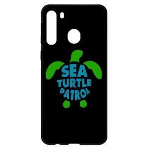 Etui na Samsung A21 Sea turtle patrol