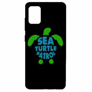 Etui na Samsung A51 Sea turtle patrol