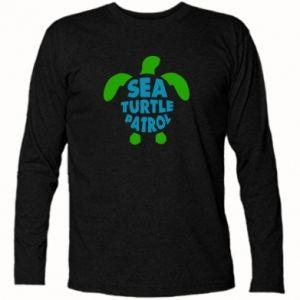 Koszulka z długim rękawem Sea turtle patrol