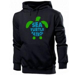 Men's hoodie Sea turtle patrol