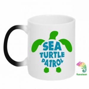 Kubek-magiczny Sea turtle patrol