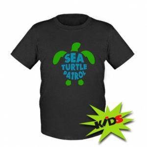 Dziecięcy T-shirt Sea turtle patrol