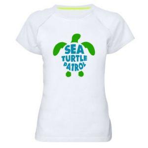 Koszulka sportowa damska Sea turtle patrol