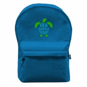 Backpack with front pocket Sea turtle patrol