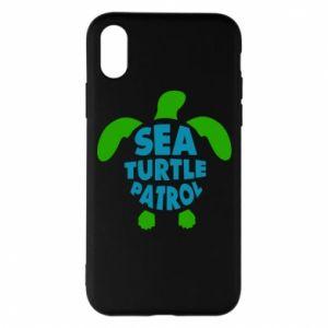 Etui na iPhone X/Xs Sea turtle patrol