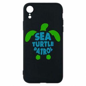 Etui na iPhone XR Sea turtle patrol