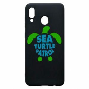 Etui na Samsung A30 Sea turtle patrol