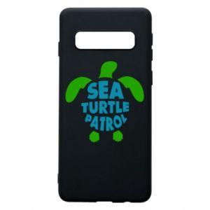 Etui na Samsung S10 Sea turtle patrol