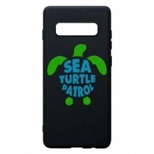 Etui na Samsung S10+ Sea turtle patrol