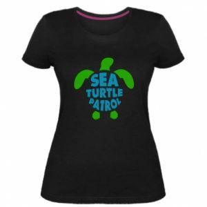 Women's premium t-shirt Sea turtle patrol