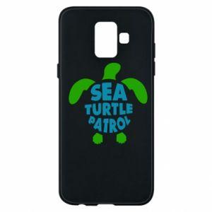 Etui na Samsung A6 2018 Sea turtle patrol