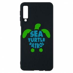 Etui na Samsung A7 2018 Sea turtle patrol