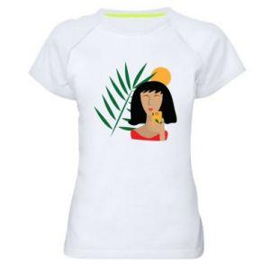 Damska koszulka sportowa Selfie - PrintSalon