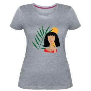 Damska premium koszulka Selfie - PrintSalon