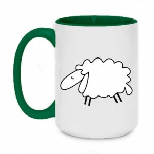 Two-toned mug 450ml Sleepy ram