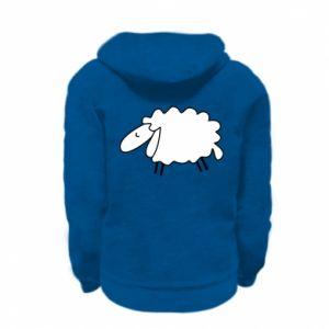 Kid's zipped hoodie % print% Sleepy ram