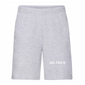 Men's shorts The meaning of life in ...