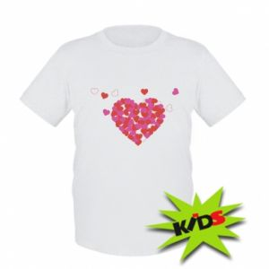 Kids T-shirt Hearts in the heart