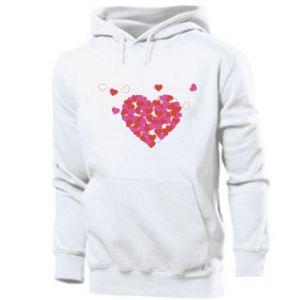 Men's hoodie Hearts in the heart
