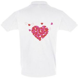 Men's Polo shirt Hearts in the heart