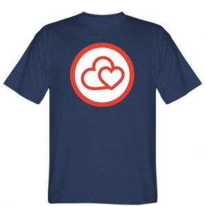 T-shirt Two hearts