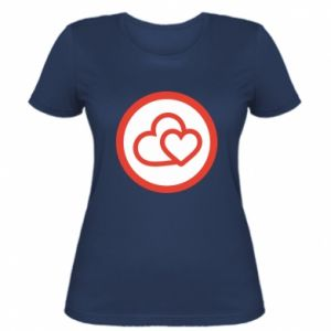 Women's t-shirt Two hearts
