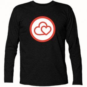 Koszulka z długim rękawem Dwa serca - PrintSalon