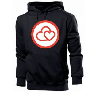 Men's hoodie Two hearts