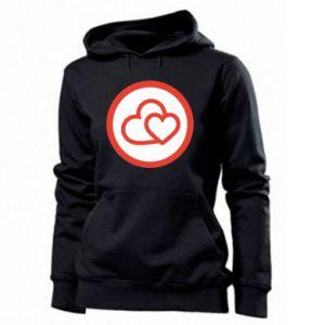 Women's hoodies Two hearts