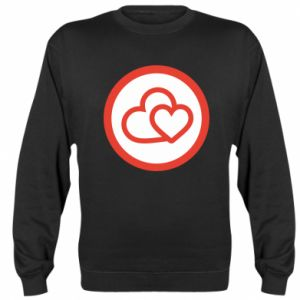 Sweatshirt Two hearts