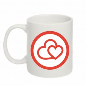Mug 330ml Two hearts